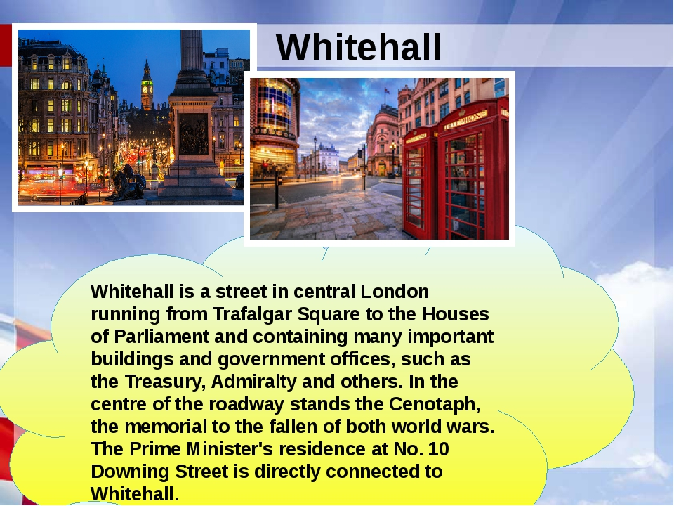 Whitehall is a street in central London running from Trafalgar Square to the...