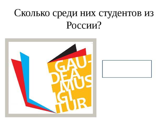 Сколько среди них студентов из России? 12.000