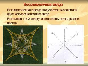 Восьмиконечная звезда Восьмиконечная звезда получается наложением двух четыре