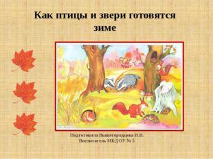 Подготовила Вышегородцева И.В. Воспитатель МБДОУ № 5 Как птицы и звери готов