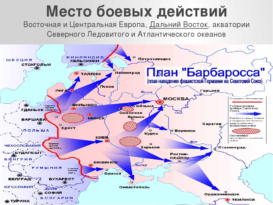 Место боевых действий ВосточнаяиЦентральная Европа, Дальний Восток, акватор...