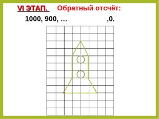 VI ЭТАП. Обратный отсчёт: 1000, 900, … ,0.