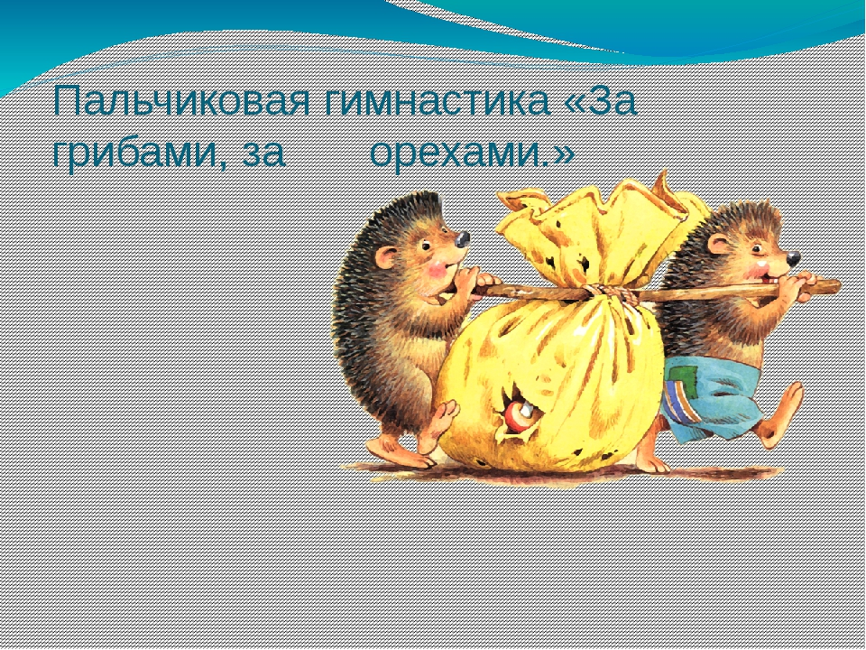 Пальчиковая гимнастика «За грибами, за орехами.»