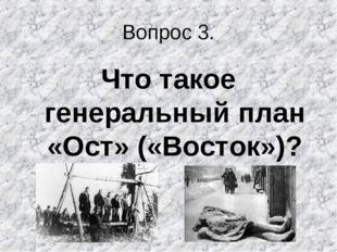 Вопрос 3. Что такое генеральный план «Ост» («Восток»)?