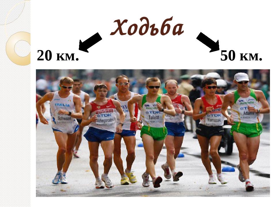 Ходьба 20 км. 50 км.