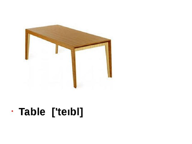 Table ['teıbl]