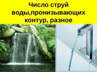 Поток воды Поток воды пронизывает контур Число струй воды,пронизывающих конту