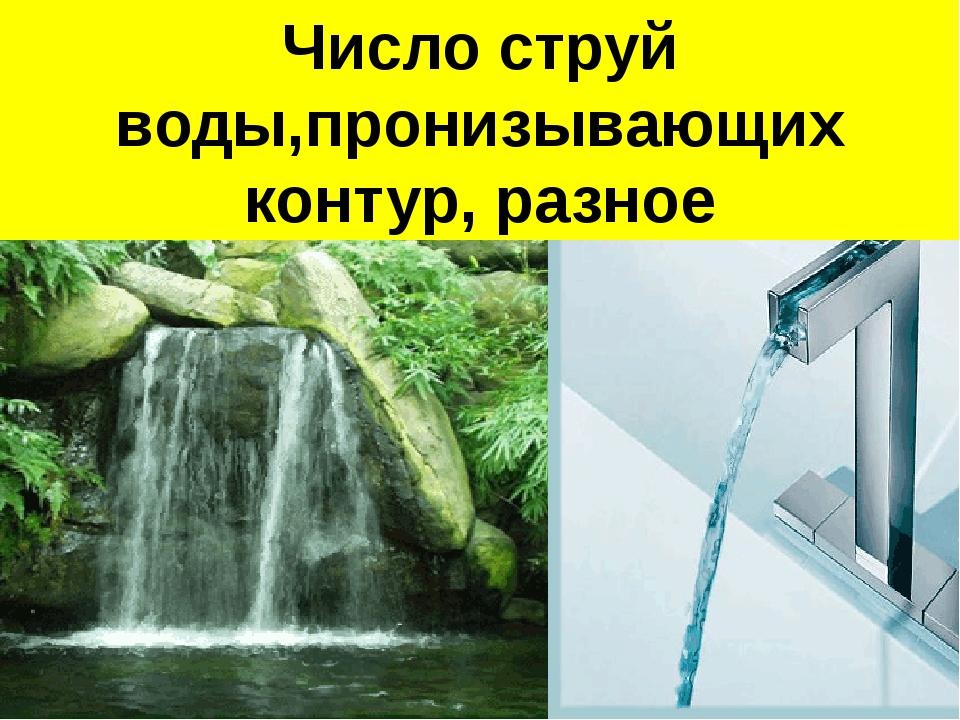Поток воды Поток воды пронизывает контур Число струй воды,пронизывающих конту...
