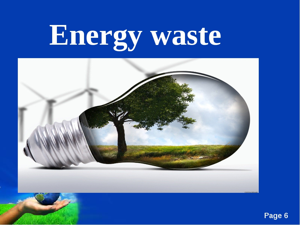 Energy waste Free Powerpoint Templates Page *
