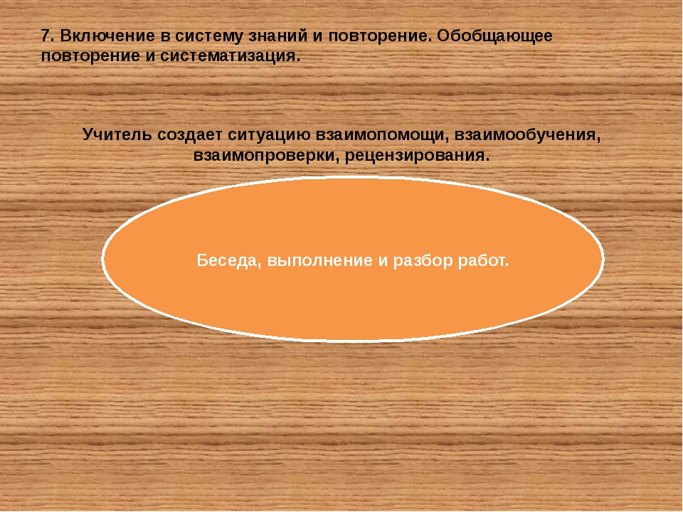 7. Включение в систему знаний и повторение. Обобщающее повторение и системати...