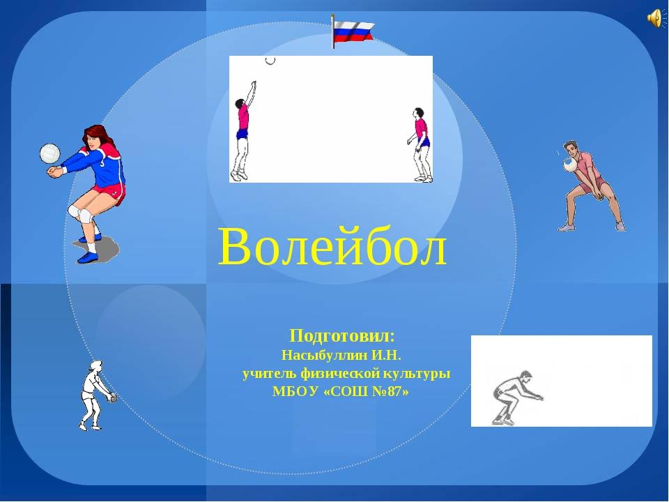 Волейбол Подготовил: Насыбуллин И.Н. учитель физической культуры МБОУ «СОШ №87»