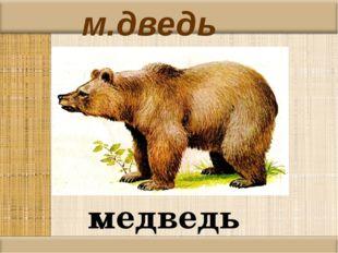 м.дведь медведь