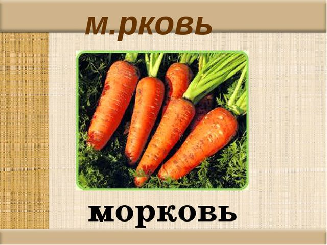 м.рковь морковь
