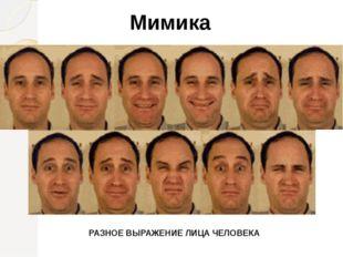 Мимика РАЗНОЕ ВЫРАЖЕНИЕ ЛИЦА ЧЕЛОВЕКА