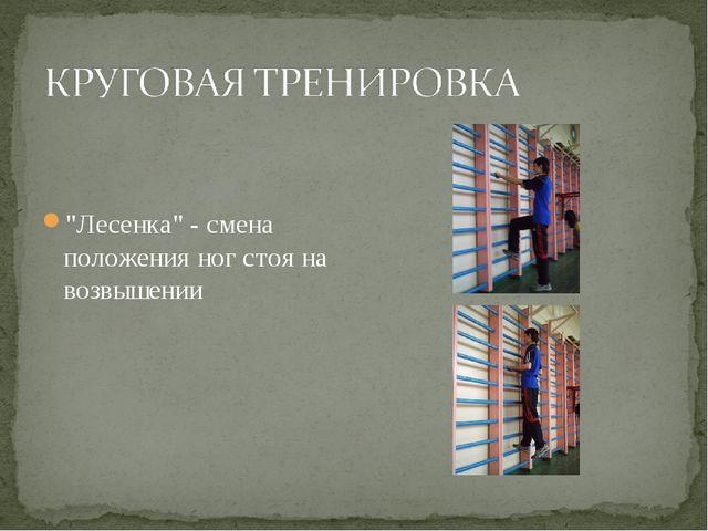 """""""Лесенка"""" - смена положения ног стоя на возвышении"""