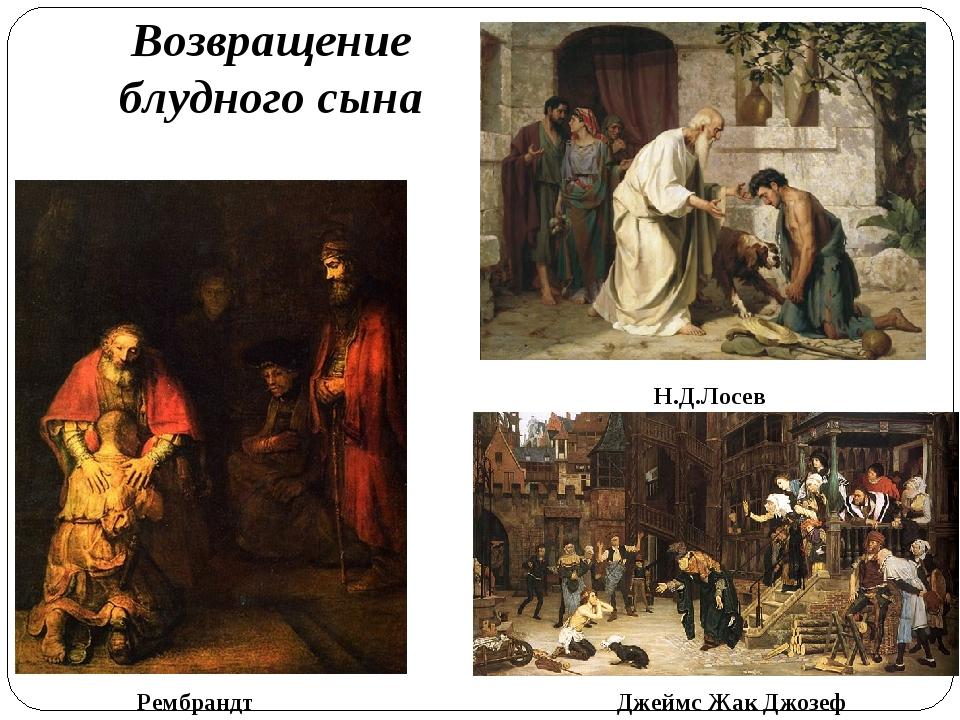 Возвращение блудного сына Рембрандт Джеймс Жак Джозеф Н.Д.Лосев