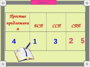 Задание 2 4 1 3 Простые предложения БСП ССП СПП