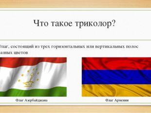 Что такое триколор? Флаг, состоящий из трех горизонтальных или вертикальных п