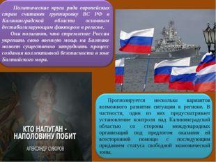 Политические круги ряда европейских стран считают группировку ВС РФ в Калини