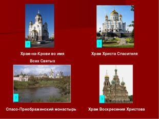 Храм-на-Крови во имя Всех Святых Спасо-Преображенский монастырь Храм Христа С
