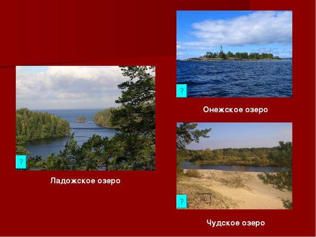 Ладожское озеро Онежское озеро Чудское озеро