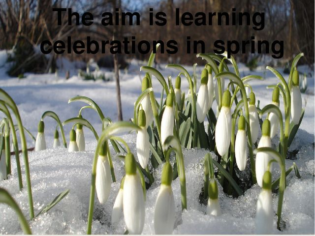 The aim is learning celebrations in spring