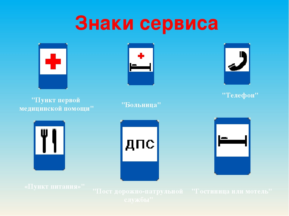 """Знакисервиса """"Телефон"""" """"Пункт первой медицинской помощи"""" """"Больница"""" «Пункт..."""