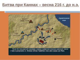 Битва при Каннах – весна 216 г. до н.э.