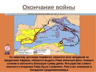 Окончание войны  Проанализируйте карту и сделайте вывод о территориальных из