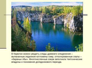 В Карелии можно увидеть следы древнего оледенения – выпаханные ледником котло