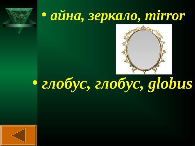 айна, зеркало, mirror глобус, глобус, globus