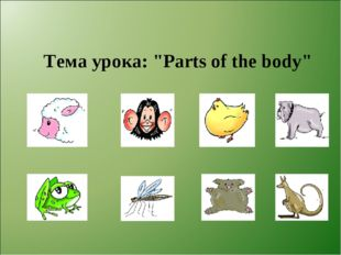 "Тема урока: ""Parts of the body"""