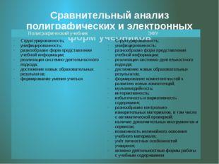 Сравнительный анализ полиграфических и электронных форм учебников Полиграфиче