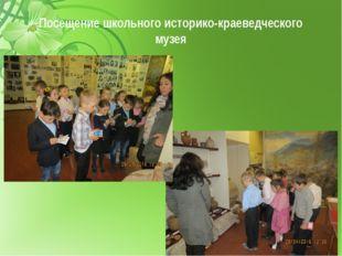 Посещение школьного историко-краеведческого музея