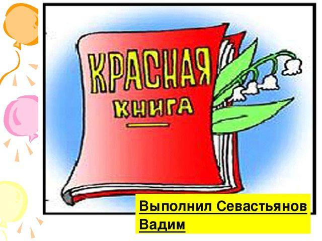 Выполнил Севастьянов Вадим