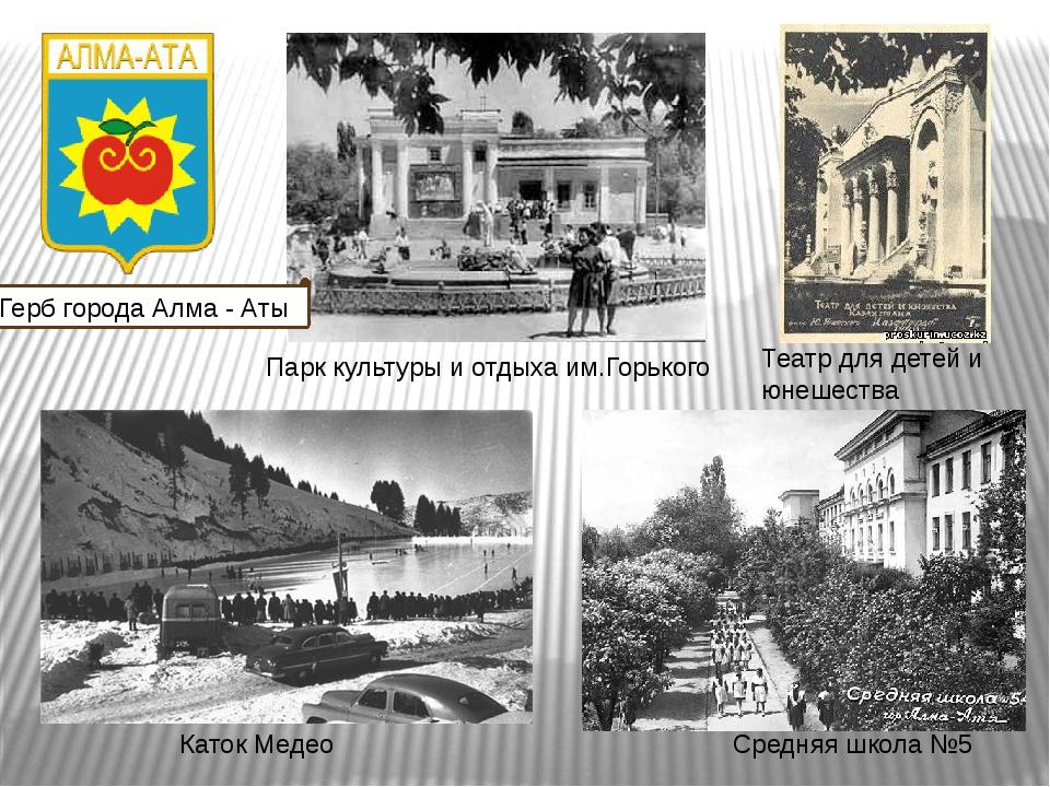 Герб города Алма - Аты Парк культуры и отдыха им.Горького Театр для детей и ю...