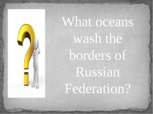 What oceans wash the borders of Russian Federation?