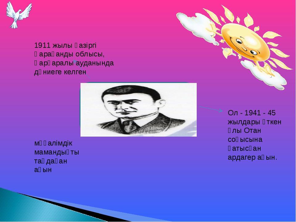 Қасым Аманжолов (1911-1955) 1911 жылы қазіргі Қарағанды облысы, Қарқаралы ауд...