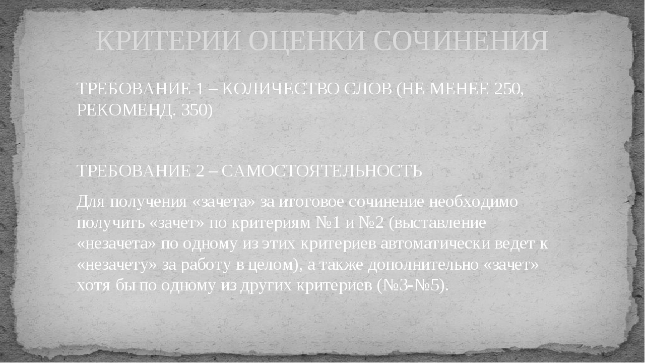 ТРЕБОВАНИЕ 1 – КОЛИЧЕСТВО СЛОВ (НЕ МЕНЕЕ 250, РЕКОМЕНД. 350) ТРЕБОВАНИЕ 2 –...