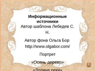 Информационные источники Автор шаблона Лебедев С. Н. Автор фона Ольга Бор htt