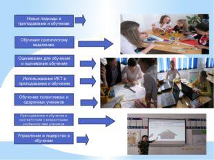 Новые подходы в преподавании и обучении Обучение критическому мышлению. Оцени