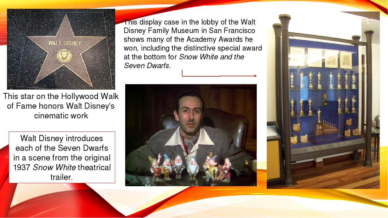 This star on the Hollywood Walk of Fame honors Walt Disney's cinematic work W...