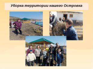 Уборка территории нашего Островка