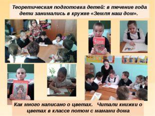 Теоретическая подготовка детей: в течение года дети занимались в кружке «Зем