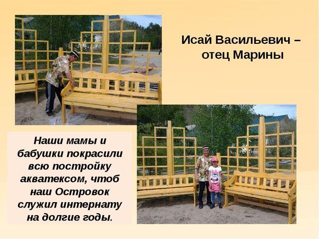 Исай Васильевич – отец Марины Наши мамы и бабушки покрасили всю постройку акв...