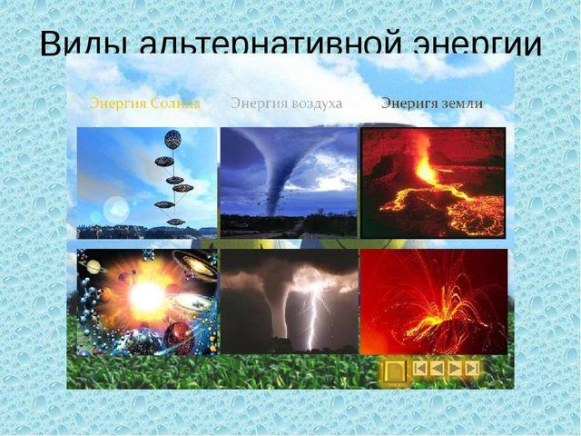 Виды альтернативной энергии