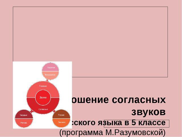 Произношение согласных звуков Урок русского языка в 5 классе (программа М.Ра...