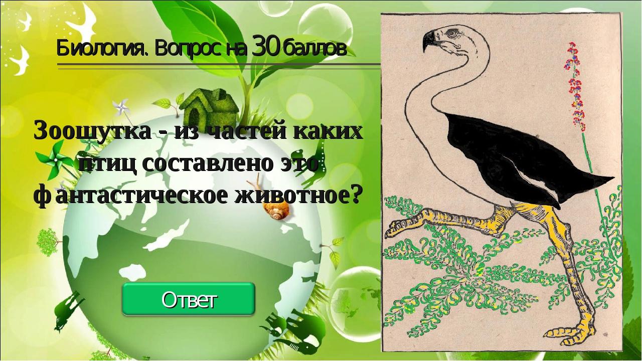 Биология. Вопрос на 30 баллов Зоошутка - из частей каких птиц составлено это...