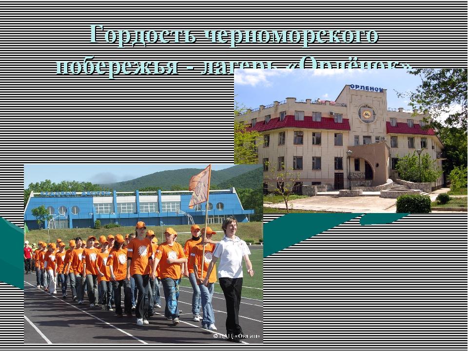 Гордость черноморского побережья - лагерь «Орлёнок»