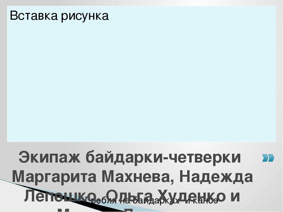 Гребля на байдарках и каноэ Экипаж байдарки-четверки Маргарита Махнева, Надеж...